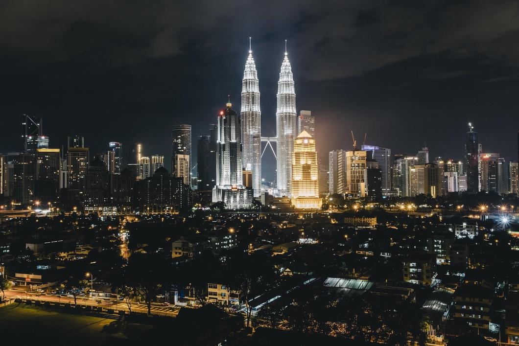 Photo: Kuala Lumpur skyscraper view at night